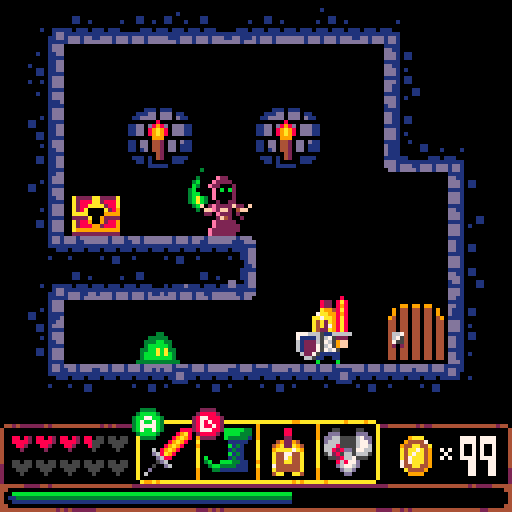 A screnshot from a Pico8 game.
